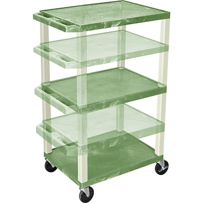 H. Wilson® Adjustable-Height A/V Carts; Green