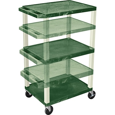 H. Wilson® Adjustable-Height A/V Carts; Hunter Green