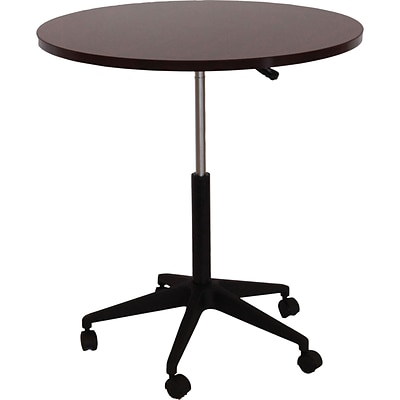 Boss® Mobile Round Tables; 32W, Mahogany