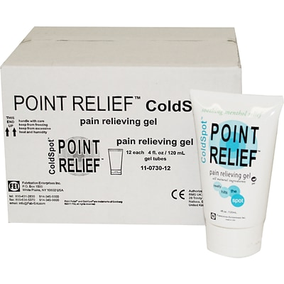 Point Relief™ ColdSpot™ Pain Reliever; 4oz. Gel Tube, 12/Box