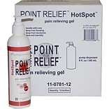 Point Relief™HotSpot™ Pair Reliever; 8oz. Gel Pump, 12/Case
