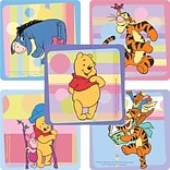 "SmileMakers® Disney 5 Playtime Pooh Stickers; 2-1/2""H x 2-1/2""W, 100/Roll, 5 Sticker Designs"