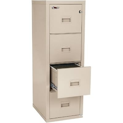 FireKing® Fireproof Compact Turtle Vertical Files, 4-Drawer