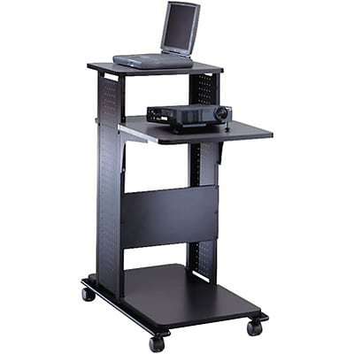 Mayline® Presentation Stand; Nebula Grey/Black
