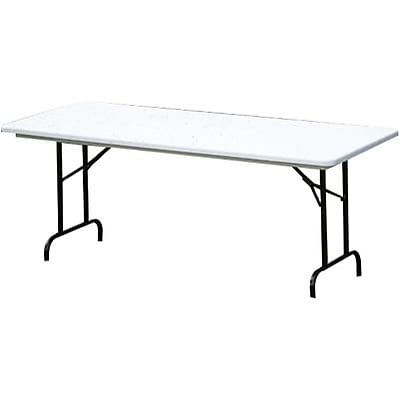 Correll® 30D x 60L Heavy Duty Plastic Folding Table; Gray Granite Top