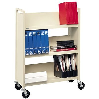 Bretford® Single-Sided Book Trucks; 3-Shelf, Standard Width, Aluminum