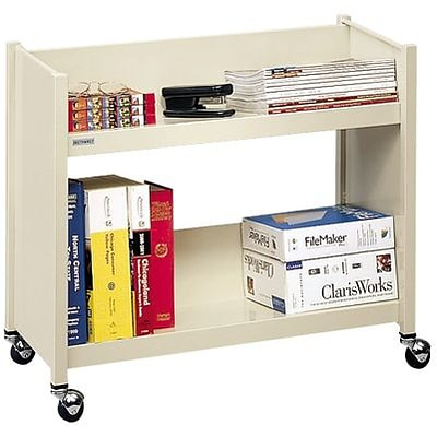 Bretford® Single-Sided Book Trucks; 2-Shelf, Aluminum