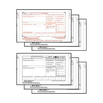 W-2 Forms; IRS Approved, Carbonless Twin-Sets; 6-Part