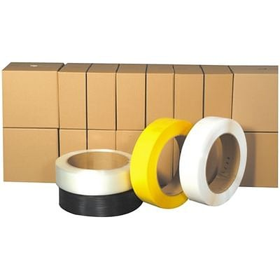 Polypropylene Strapping; .031 Mils, Yellow