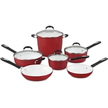 Elements 10-piece Non-Stick Ceramic Cookware Set - Red