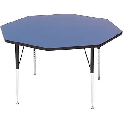 Correll® 48 Octagonal Heavy Duty Activity Table; Blue High Pressure Laminate Top