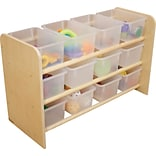 Wood Designs See-All Storage Unit w/12 Translucent Trays