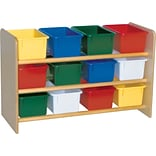 Wood Designs™ See-All Storage Unit w/12 Colored Trays