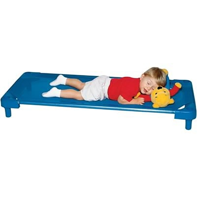T.L. Clark® 52 Stackable Cot; Blue