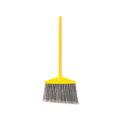 Rubbermaid® Commercial Metal Handle Flagged Polypropylene Bristle Angle Broom