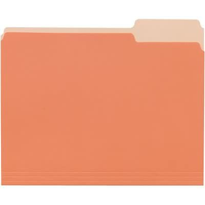 Quill Brand Standard 3 Tab Colored File Folders Letter Assorted