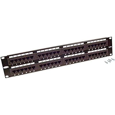Belkin® Angled CAT 5 Patch Panel with Cable Rings; 48-Port