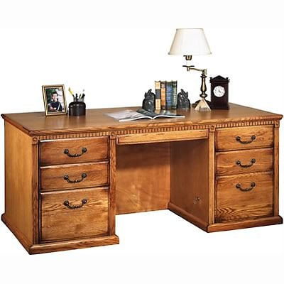 Martin Furniture Huntington Oak Office Collection in Wheat Finish; Executive Desk