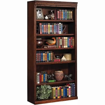 Martin Furniture Huntington Oak Office Collection in Burnish Finish; 72H Open Bookcase