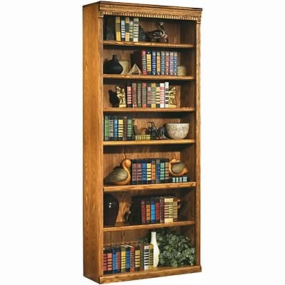 Martin Furniture Huntington Oak Office Collection in Wheat Finish; 84H Open Bookcase
