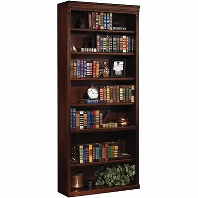 Martin Furniture Huntington Oak Office Collection in Burnish Finish; 84H Open Bookcase