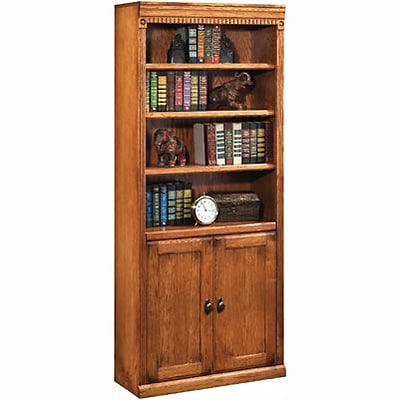 Martin Furniture Huntington Oak Office Collection in Wheat Finish; 72H Bookcase w/Doors