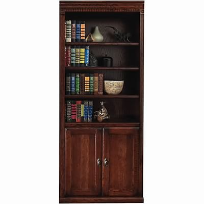 Martin Furniture Huntington Oak Office Collection in Burnish Finish; 72H Bookcase with Doors