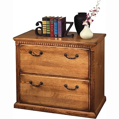 Martin Furniture Huntington Oak Office Collection in Wheat Finish; 2-Drawer Lateral File