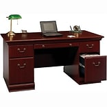 SAVE 10% Bush® Birmingham; Executive Desk BUNDLE