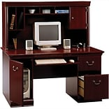 SAVE 10% Bush® Birmingham; Desk & Hutch BUNDLE