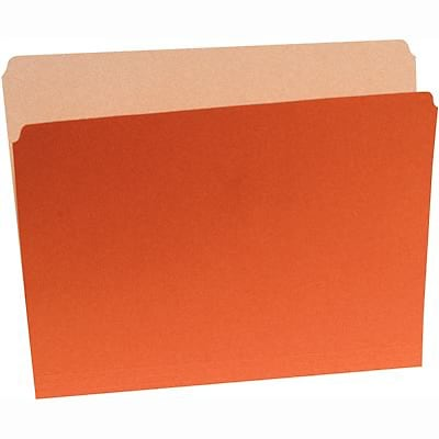 Quill Brand® Colored File Folders; Straight-Cut, Letter Size, Orange, 100/BX