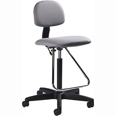 Global® Deluxe Drafting Stools; Grey