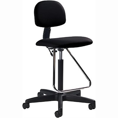 Global® Deluxe Drafting Stools; Black