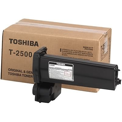 Toshiba® T2500 Black Laser Toner Cartridge Multi-pack (2 cart per pack)