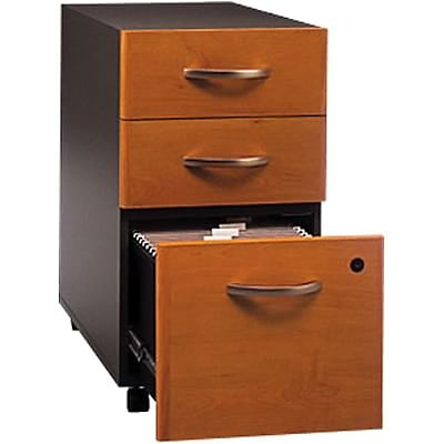 Bush® Corsa Collection in Natural Cherry Finish; 3-Drawer File, Ready to Assemble