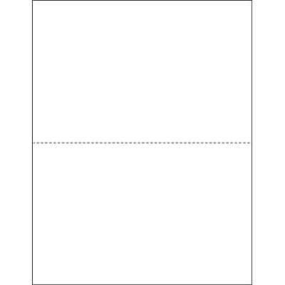 TOPS W-2 Blank Front and Back Tax Form, 1 Part, White, 8 1/2 x 11, 50 Sheets/Carton (BLW2Q)