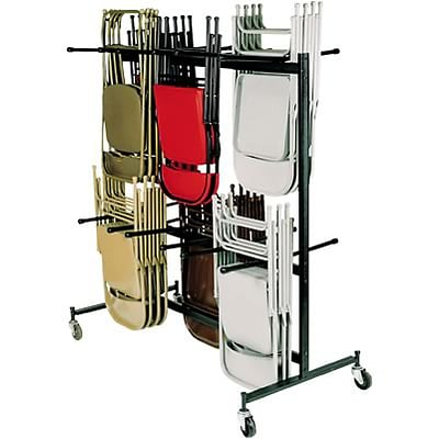 National Public Seating Double Tier Hanging Chair Truck Brown 84 Quill Com