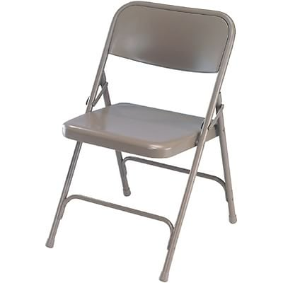 National Public Seating Premium All-Steel Folding Chairs; Grey