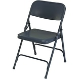 National Public Seating Blue All-Steel Folding Chairs