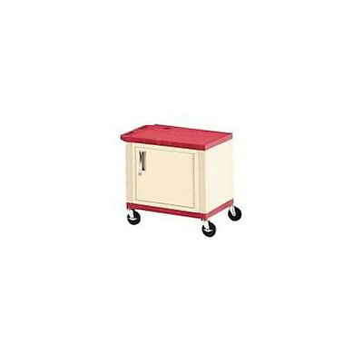 H. Wilson® 26H Tuffy Plastic Carts with Cabinet; Red