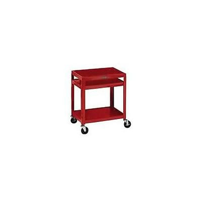 H. Wilson® Extra-Strong Colored Metal Utility Carts; Red
