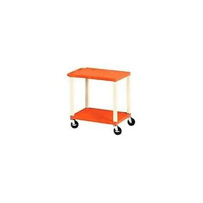 H. Wilson® 26H Tuffy Plastic Utility Carts; Orange