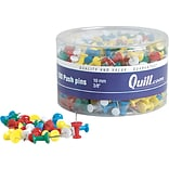 Quill Brand® Assorted Color Plastic Push Pins