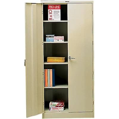 Tennsco® Deluxe Steel Storage Cabinet; Non-Assembled, 78Hx36Wx18D, Putty