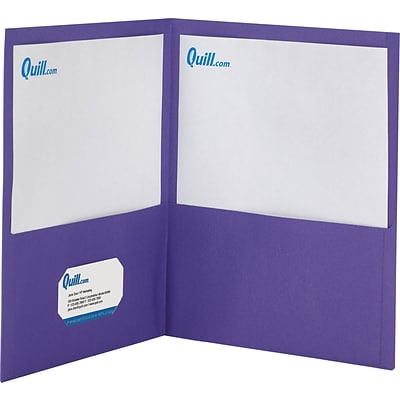 Quill Brand® 2-Pocket Folders without Fasteners; Purple