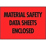 Self-Adhesive Material Safety Data Sheets Enclosed Packing List Envelopes