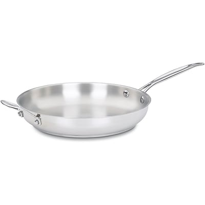 Chefs Classic Stainless 12 In. Open Skillet with Helper Handle