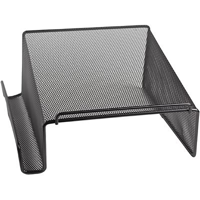 Quill Brand® Black Mesh Coordinating Desk Set; Telephone Stand