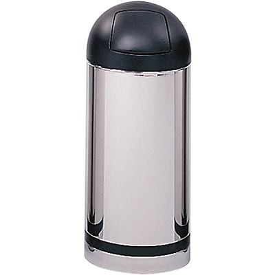 Safco® Reflections Push Top Dome Receptacle