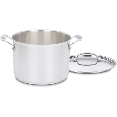 Chefs Classic Stainless 8 Qt. Stockpot with Cover